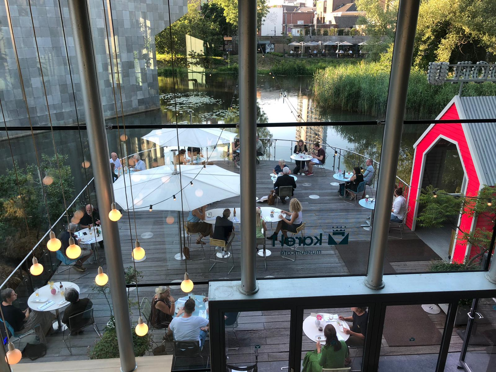 Museum cafe home terrace water Eindhoven